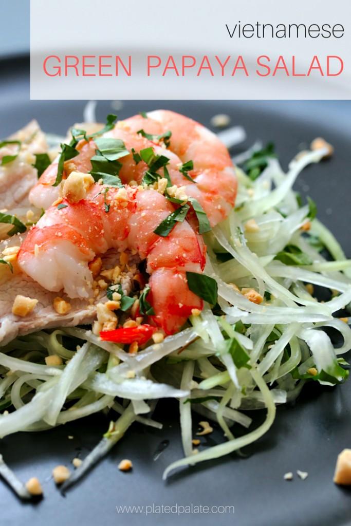 Vietnamese Green Papaya Salad | platedpalate.com